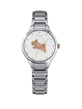 radley-radley-on-the-run-white-dog-dial-silver-tone-bracelet-ladies-watch