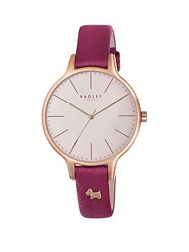 radley-radley-wimbeldon-white-dial-pink-leather-strap-dog-charm-ladies-watch