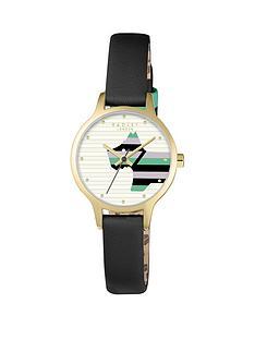 radley-radley-willow-white-striped-dog-dial-black-leather-strap-ladies-watch