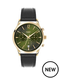 henry-london-henry-london-chiswick-green-dial-gold-tone-case-black-leather-strap-mens-watch