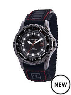 kahuna-kahuna-black-dial-black-fabric-strap-mens-watch