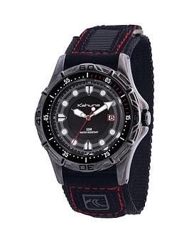 kahuna-kahuna-black-dial-black-fabric-strap-mens-watch