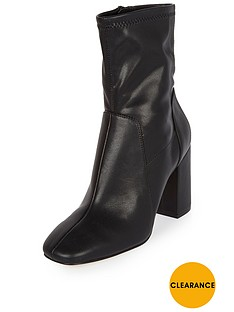 river-island-flare-heel-sock-boot-black