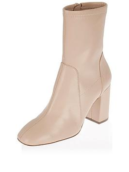river-island-flare-heel-sock-boot