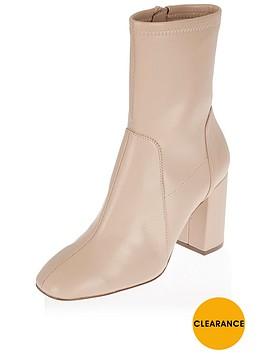 river-island-flare-heel-sock-boot