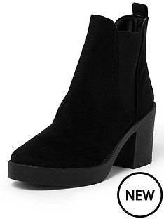 river-island-clean-chunky-elastic-gusset-boot