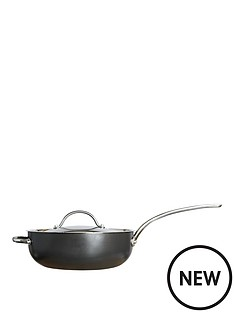 raymond-blanc-by-anolon-raymond-blanc-simply-perfect-26cm-hard-anodised-non-stick-chefs-pan