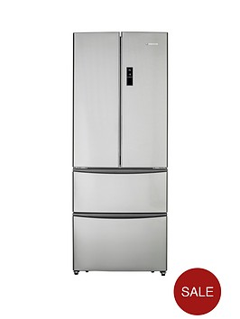 hoover-hmn7182ixuk-70cm-american-style-4-door-fridge-freezer-stainless-steel