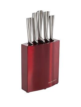 morphy-richards-morphy-richards-accents-5-piece-knife-block-red