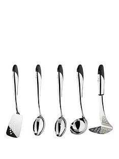raymond-blanc-by-anolon-raymond-blanc-5-piece-stainess-steel-utensil-set