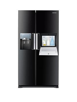 Samsung Rs7677FhcbcEu No Frost AmericanStyle Fridge Freezer With Homebar  Black