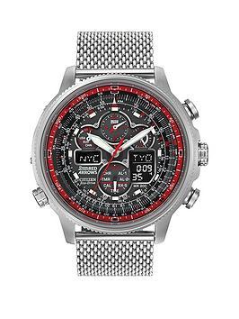 citizen-citizen-eco-drive-red-arrows-navihawk-black-dial-stainless-steel-bracelet-limited-edition-mens-watch