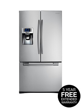 samsung-rfg23uers1xeu-french-door-side-by-side-fridge-freezer-with-twin-cooling-plus-next-day-delivery-silver