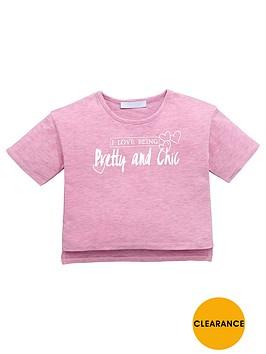 mini-v-by-very-girls-pretty-and-chic-slogan-t-shirt