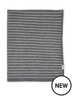 mamas-papas-knitted-blanket-grey-stripe