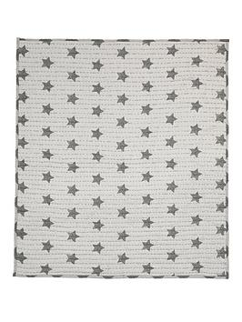 mamas-papas-cotbedcot-coverlet-grey-star
