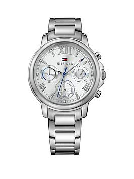 Tommy Hilfiger Tommy Hilfiger Claudia Silver Multi Function Dial Silver Tone Bracelet Ladies Watch