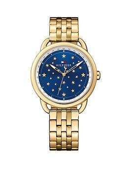 Tommy Hilfiger Tommy Hilfiger Lucy Blue Star Dial Gold Tone Bracelet Ladies Watch