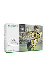 S 500Gb White Console with Fifa 17 with Optional Extra Controller and 12 Months Live Subscription