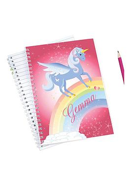 personalised-love-unicorns-notebook