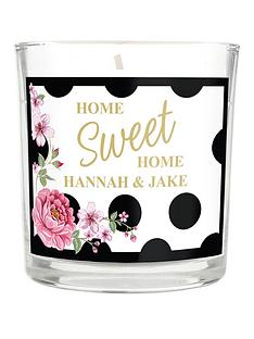 personalised-floral-polka-dot-scented-candle