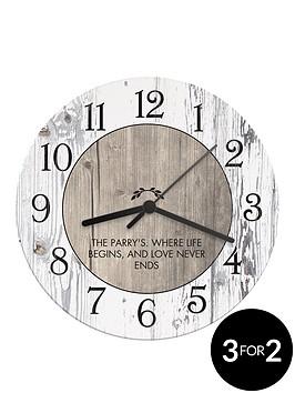 personalised-rustic-wooden-clock