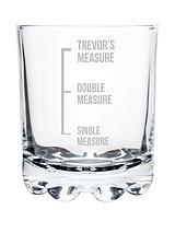 Personalised Measures Tumbler Glass