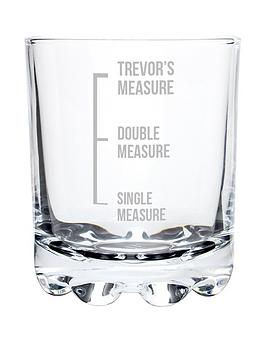 Very Personalised Measures Tumbler Glass Picture