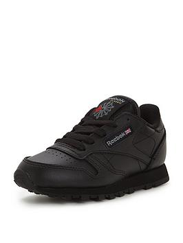 Reebok Reebok Classic Leather Childrens Trainers - Black Picture