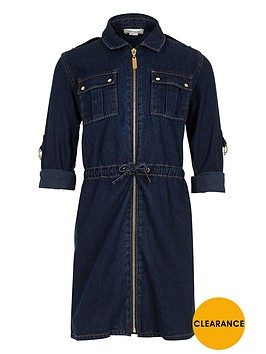 river-island-girls-dark-wash-belted-denim-dress