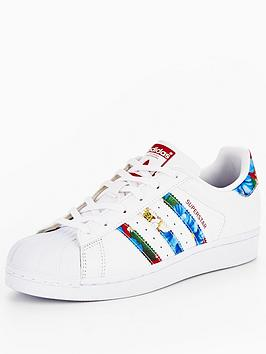 Adidas Originals Superstar  White Floral