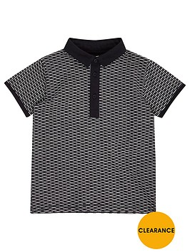 river-island-mini-boys-navy-jacquard-polo-shirt