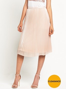 tfnc-pleated-midi-skirt-nude