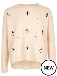 river-island-girls-cream-embellished-knit-jumper