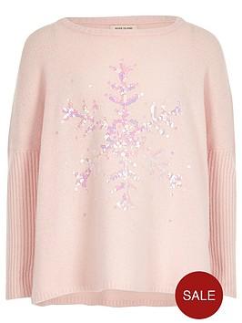 river-island-girls-pink-sequin-snowflake-christmas-jumper