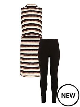 river-island-lurex-stripe-tunic-amp-leggings-set