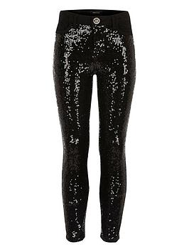 river-island-girls-black-sequin-skinny-jeans