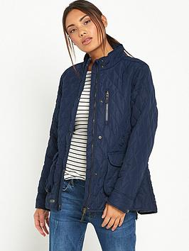 Trespass Bronwyn Quilted Jacket  Navy