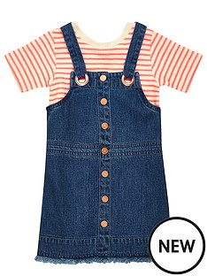 river-island-mini-mini-girls-stripe-t-shirt-dungaree-dress