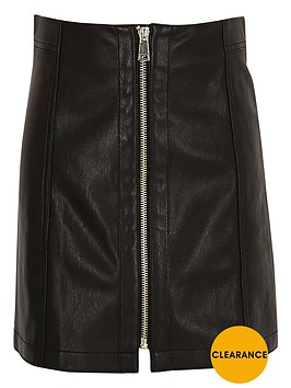 river-island-girls-black-leather-look-zip-mini-skirt