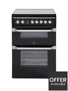 indesit-id60c2knbsp60cm-double-oven-electric-cooker-with-ceramic-hob-black