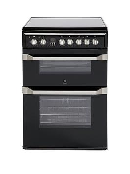 Indesit Indesit Id60C2K 60Cm Double Oven Electric Cooker With Ceramic Hob  ... Picture