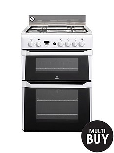 indesit-id60g2w-60cm-double-oven-gas-cooker