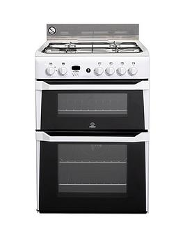 Indesit Indesit Id60G2W 60Cm Double Oven Gas Cooker Picture