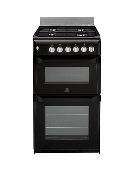 Indesit Itl50Gk 50Cm Twin Cavity Gas Cooker