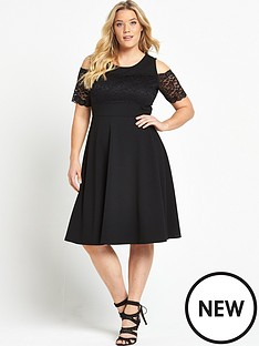 so-fabulous-lace-trim-bardot-skater-dress-black