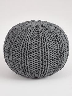 ideal-home-knitted-pouffe