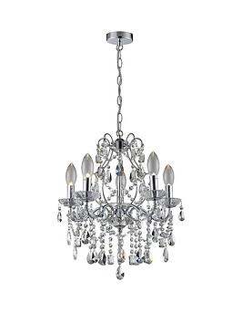 Marquis by Waterford Marquis By Waterford Annalee Large 5 Light Chandelier Picture