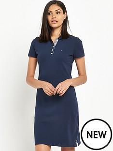 hilfiger-denim-short-sleeve-polo-dress