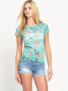 superdry-vintage-logo-hibiscus-t-shirt-overdyed-aquamarine